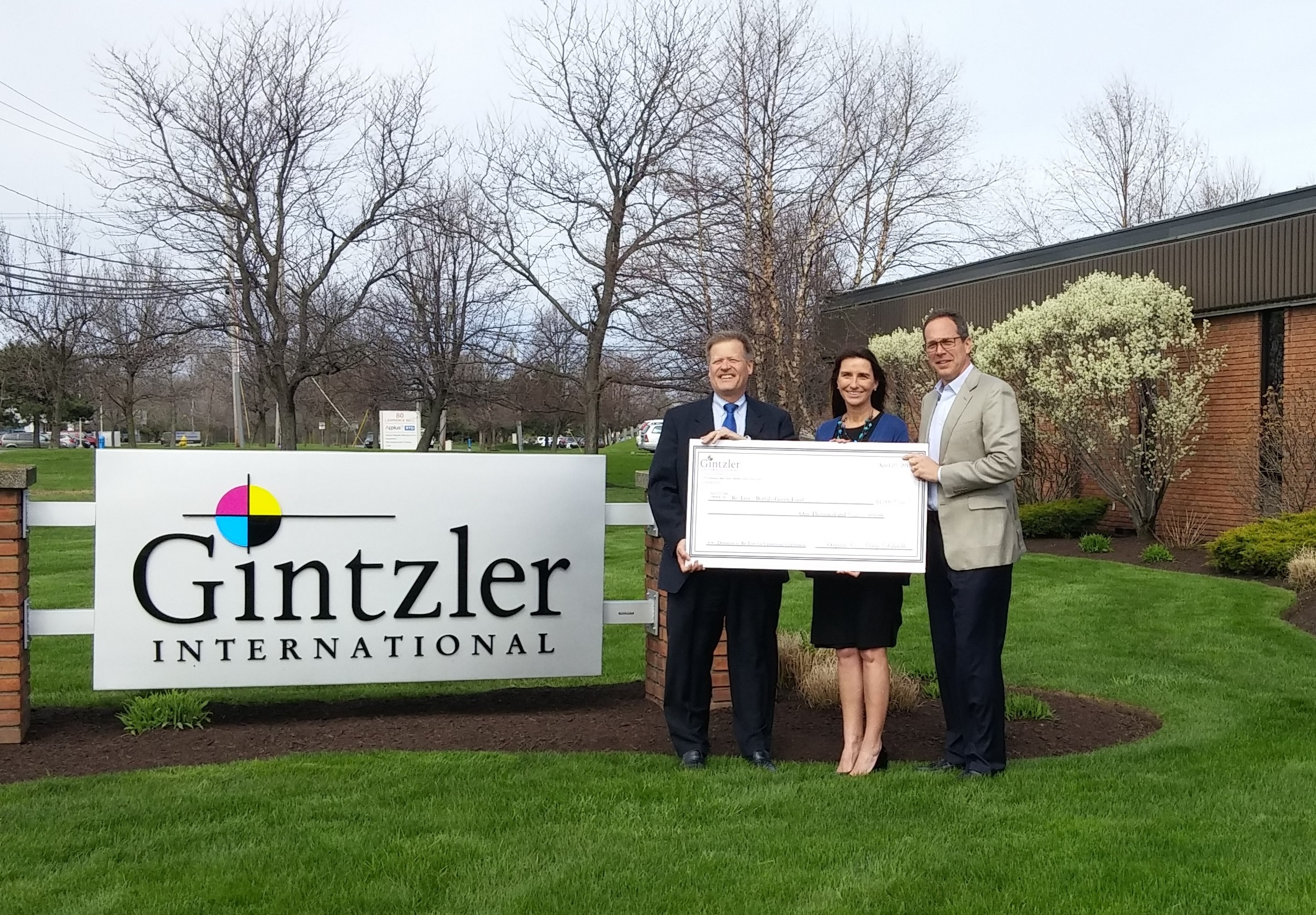 Gintzler International Donates to Re-Tree WNY