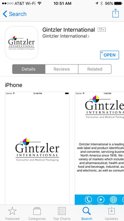 Gintzler International App